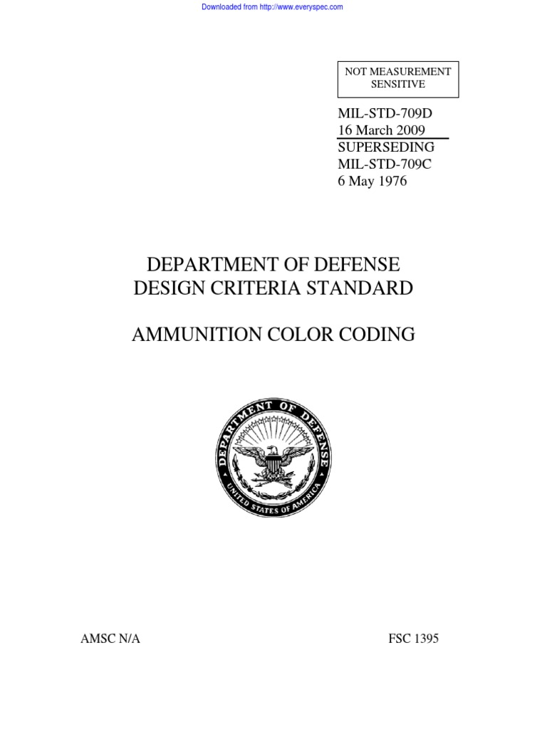 MIL-STD-709D pdf | Ammunition | Color