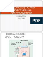 Photoacoustic and Photothermal Spectrometers
