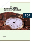 Budget Overview 2014
