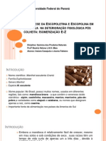 Biosintese da Escopoletina e Escopolina em mandioca deterioração certo