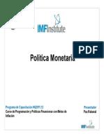 Politica Monetaria UNMSM FMI