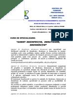 Descrierea ocupaţiei Agent DDD