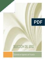 Diplomado Proyectos Presentacion Tema 5 - Seleccion Sitio