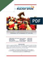 2014 Mackay Show Ring Program