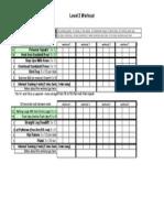 Level 2 Recruit Workout Sheet