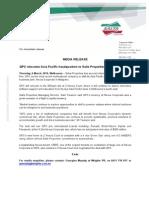 MEDIA RELEASE- QPC relocates Asia Pacific headquarters to Salta Properties' Nexus Corporate