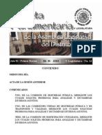 Gaceta Parlamentaria Del D.F. No. 12