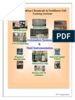 Training Workshops Schedule on Automation Systems Field Instrumentation