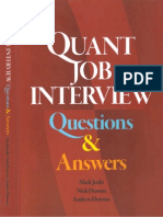 Quant Questions and Answers