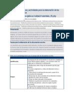 Materiales  técnicas y actividades para la elaboración de los documentos escritos