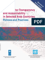 Un Pan 021716Public Sector Transparency and Accountability in Selected Arab Countries: Policies and Practices