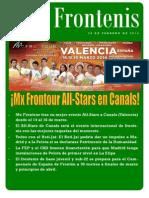Revista Frontenis. Febrero de 2014. Número 52