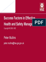 H&S Success Factors
