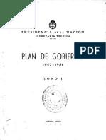 Plan de Gobierno 1947-1951. Tomo I