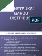 d. Konstruksi Gardu Distribusi