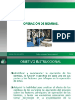 5. OPERACIÓN DE BOMBAS