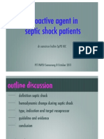 Vasopressor in Septic Shock, Semarang 0ct 2011