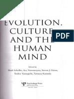 Schaller Etal_Evolution, Culture and the Human Mind