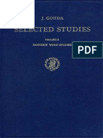 Jan Gonda Selected Studies Vol II Sanskrit Word Studies