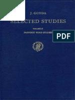 Jan Gonda Selected Studies Vol II Sanskrit Word Studies