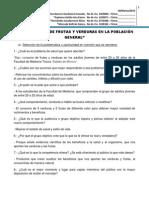 BAJO CONSUMO DE FRUTAS Y VERDURAS EN LA POBLACIÓN GENERAL 12 preguntas