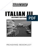 Italian III Reading Booklet
