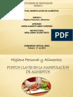 PRESENTACION PUNTOS CLAVES EN LA MANIPULACÍON DE ALIMENTOS