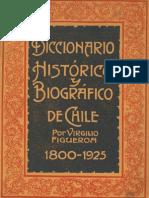 Diccionario histórico y biográfico de Chile 1800-1825. T.I.