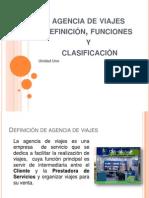 Definci+¦n, clasificaci+¦n y funciones Agencia de Viajes