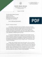 Alberto Gonzales Files -Feinstein to Gonzales Letter