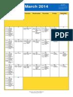 Oakmont UMC Calendar March 2014