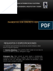 Presentacion Tec. Concretos Hidraulicos