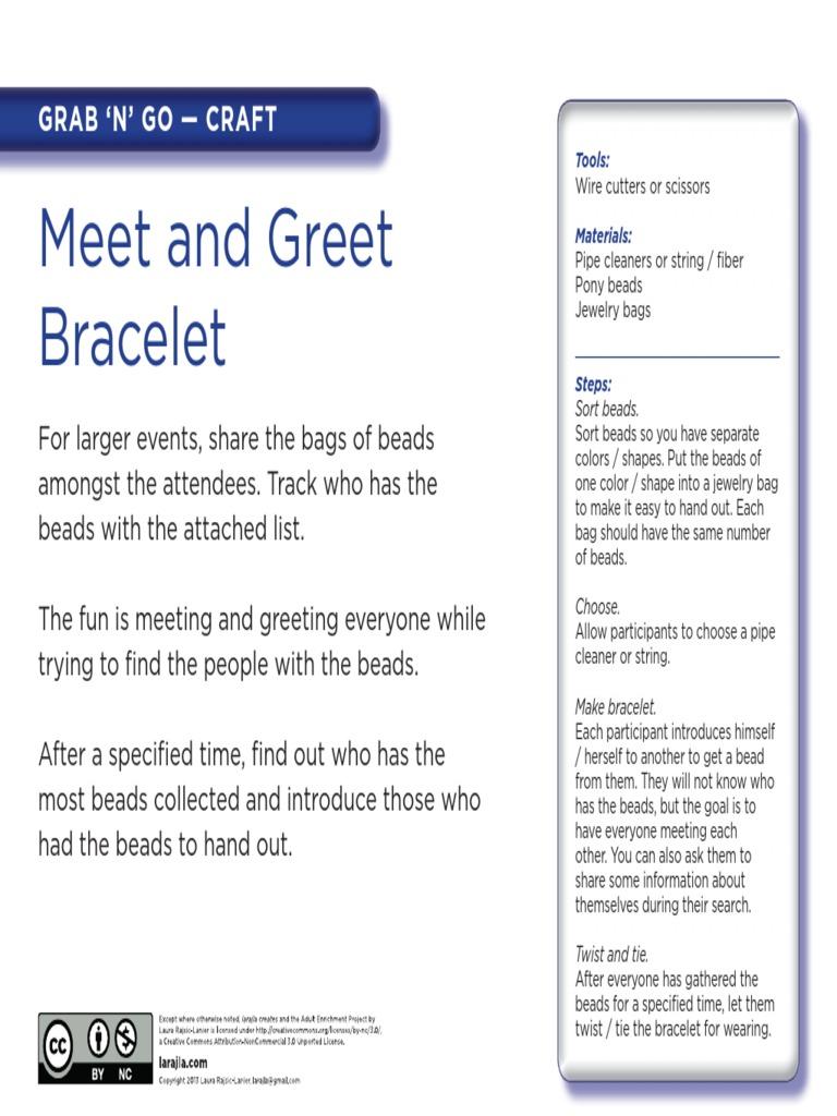Grab N Go Meet And Greet Bracelet