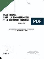 Plan trienal para la reconstrucción y liberación nacional 1974-1977, tomo 2