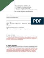 Summary Statement Form 2014