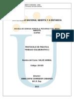 Protocolo de Practica 2 Salud Animal