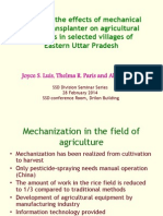 Assessing the effects of mechanical paddy transplanter (MTP) on employment of men and women agricultural workers in selected villages of Eastern Uttar Pradesh, India