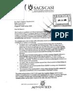 Original SACS CASI Letter Apr 24 2009