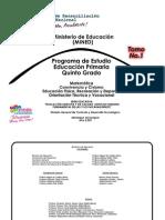 Programa Quinto Grado (Tomo N.1)