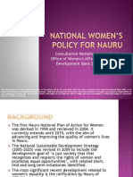 National Women's Policy For Nauru