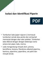 Isolasi Dan Identifikasi Piperin PPT
