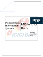 Mis in ICICI Bank
