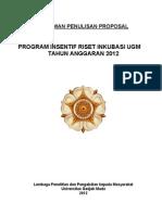 Panduan Penulisan Proposal Program Insentif Riset Inkubasi Ugm 2012(1)