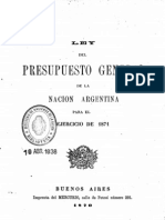 Ley del Presupuesto General de la Nación Argentina para el ejercicio de 1871