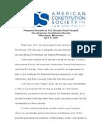 Alberto Gonzales Files - Feingold Transcript.doc Acslaw.org-4.5.07.Feingold.transcript