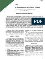Alteracjones hematologicas
