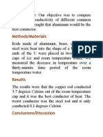 Thermal Conductivity for Different Metal