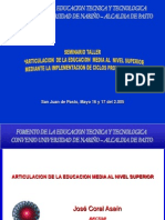 Presentación Seminario Articulación Educación Media Nivel Superior-