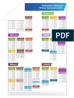 Calendario Tributario - Primer Semestre 2014