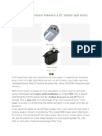 What is the Difference Between a DC Motor and Servo Motor